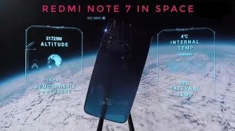 মহাকাশে Redmi Note 7, ছবি তুলে ফিরল পৃথিবীতে ভিডিও